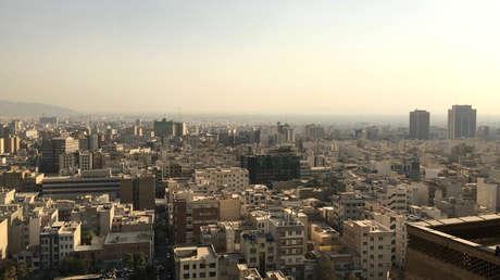 Vista de Teherán desde el Ministerio del Interior de Irán