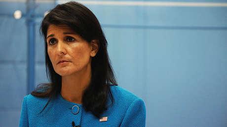 La embajadora de EE.UU. en la ONU, Nikki Haley.
