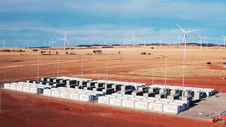 La batería instalada por Elon Musk en el sur de Australia.
