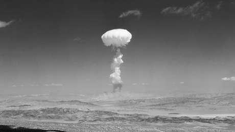 Prueba nuclear en Las Vegas (Nevada, EE.UU.), el 22 de abril de 1952.