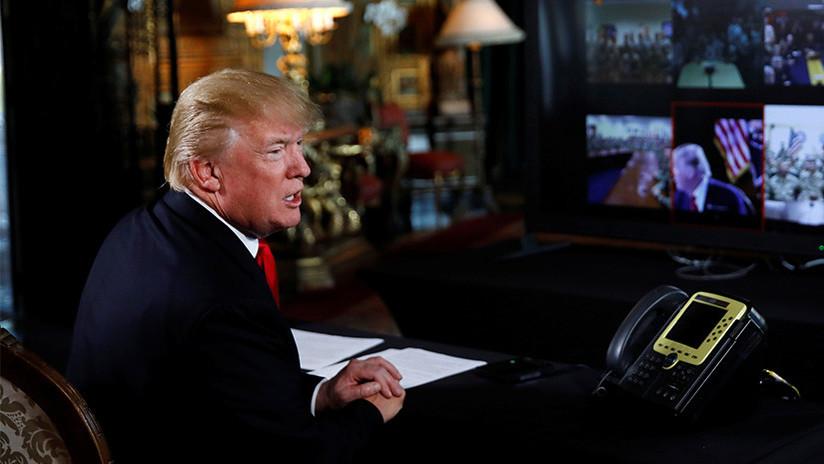 """Trump desea un Feliz Año Nuevo a sus """"odiadores"""""""