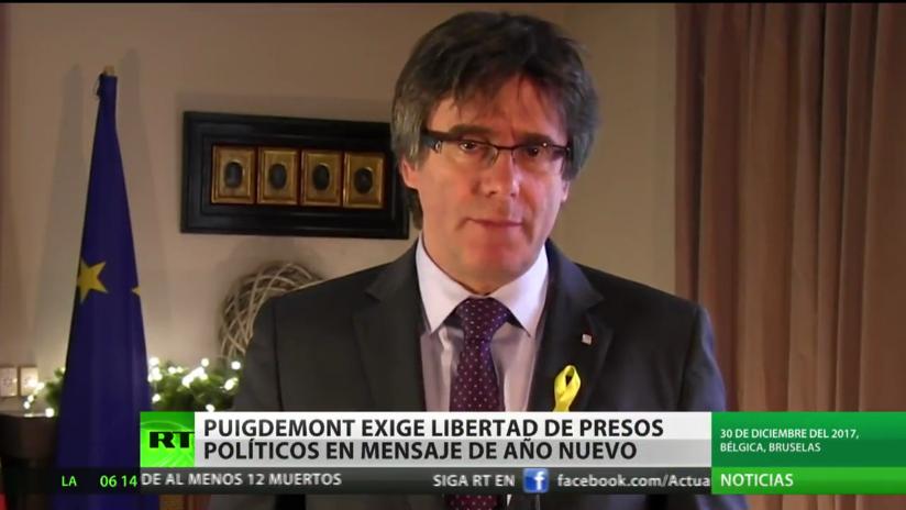 Puigdemont exige libertad de los presos políticos en un mensaje de Año Nuevo