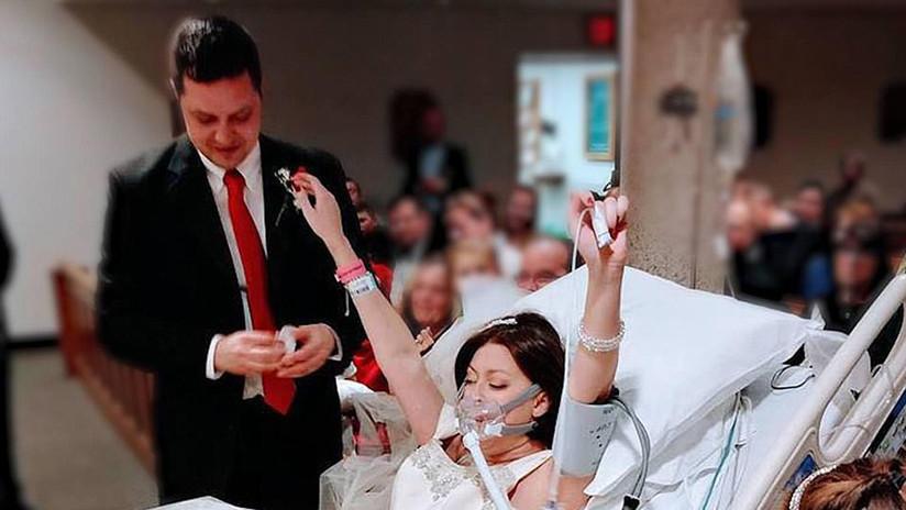 """""""Sus últimas palabras fueron sus votos"""": Una joven enferma de cáncer se casa horas antes de fallecer"""