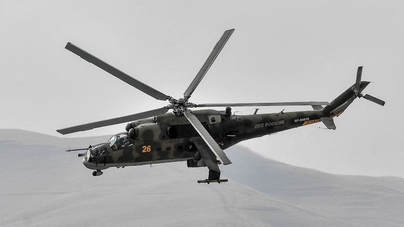 Un helicóptero militar ruso se estrelló en Siria el 31 de diciembre