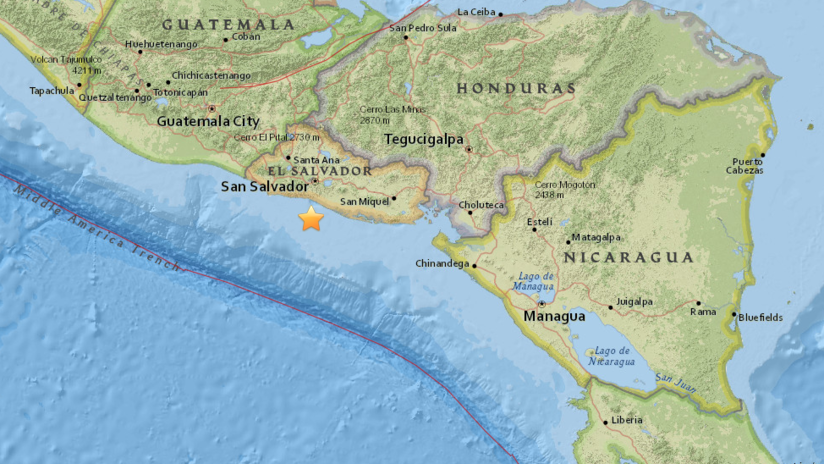 Un sismo de 5,1 se registra cerca de la costa de El Salvador