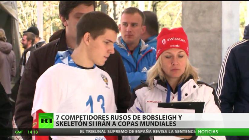 Siete competidores rusos de bobsleigh y skeletón sí irán a copas mundiales