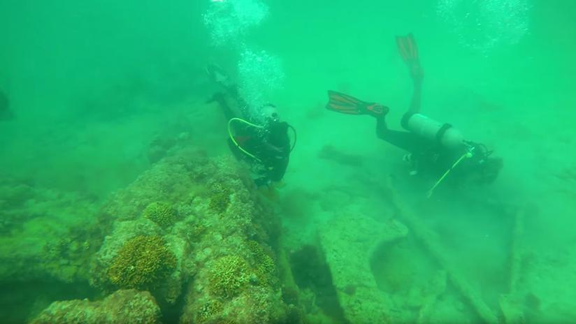 Arqueólogos mexicanos descubren vestigios de barcos antiguos en el fondo del mar (VIDEO)