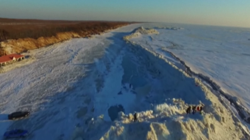 Un muro como el 'Juego de Tronos' se forma en la frontera entre Rusia y China (VIDEO)
