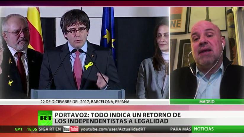 """""""Todo indica un retorno de los independentistas a la legalidad en Cataluña"""""""