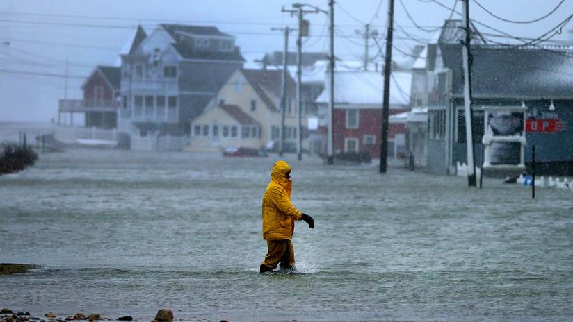 VIDEOS, FOTOS: Ciudades de la costa este de EE.UU. se hunden bajo agua helada llegada del mar
