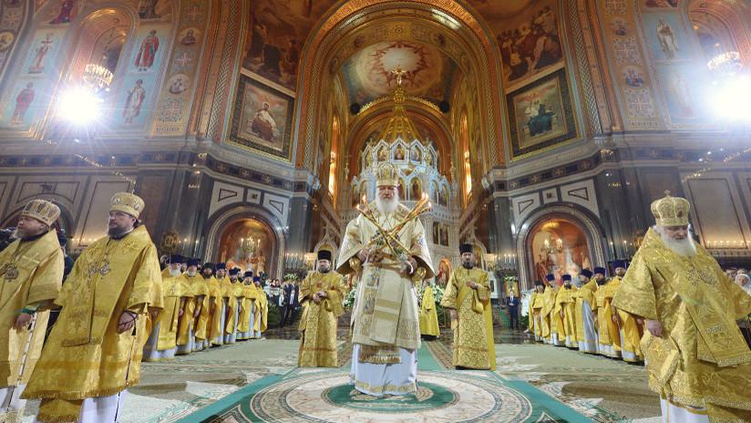 Misa navideña ortodoxa oficiada por el patriarca ruso (VIDEO)