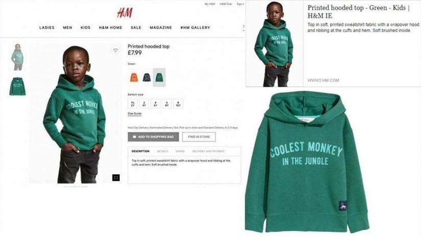 """""""El mono más 'cool' de la jungla"""": H&M se disculpa por imagen """"racista"""" de un niño negro"""