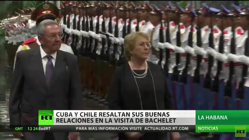 Chile y Cuba resaltan sus buenas relaciones tras la visita oficial de Bachelet a la isla