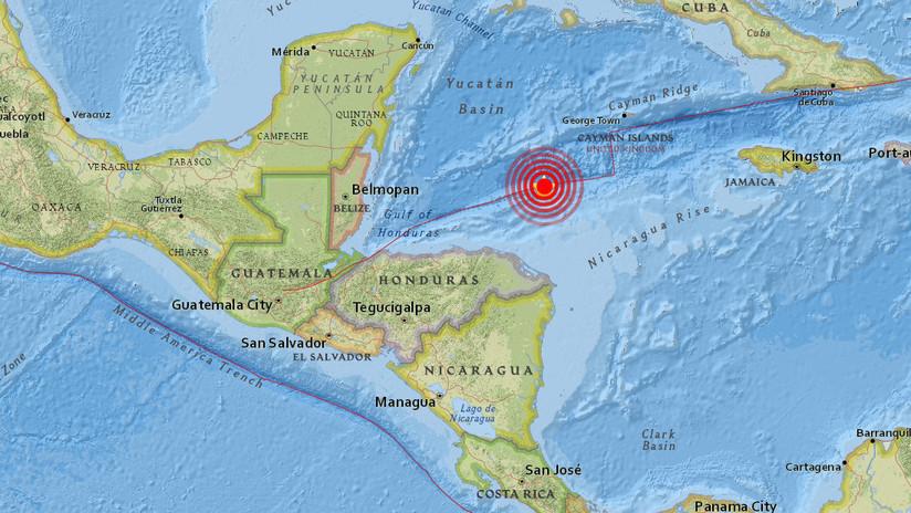 Un terremoto de magnitud 7,6 se produce en el mar, al norte de Honduras