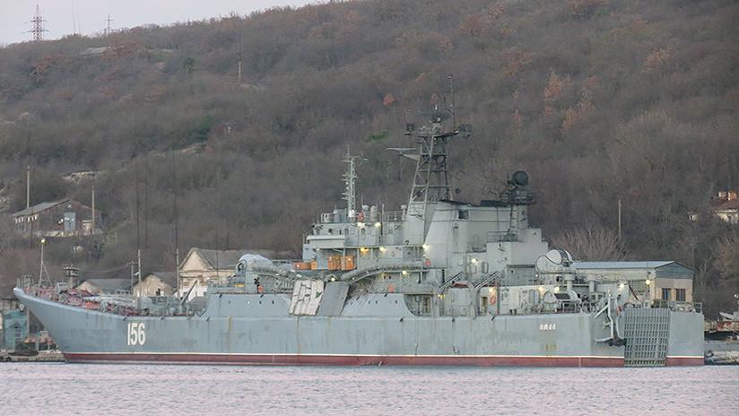 Un carguero africano colisiona con un buque de asalto anfibio ruso que se dirigía a Siria