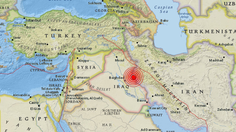 Se registra en el oeste de Irán un sismo de magnitud 5,5