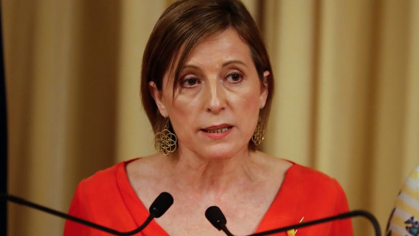 La presidenta del Parlamento catalán renuncia a repetir en el cargo