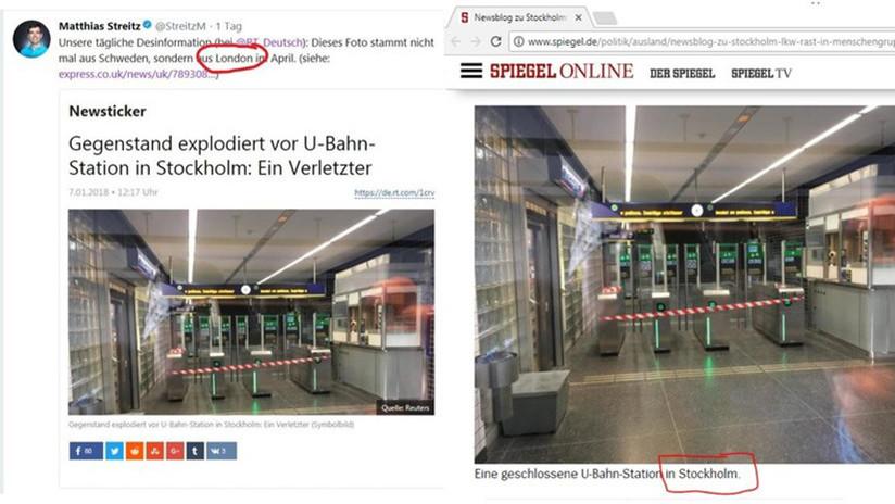 FOTO: Un redactor jefe de Spiegel 'trolea' a RT y le sale el tiro por la culata