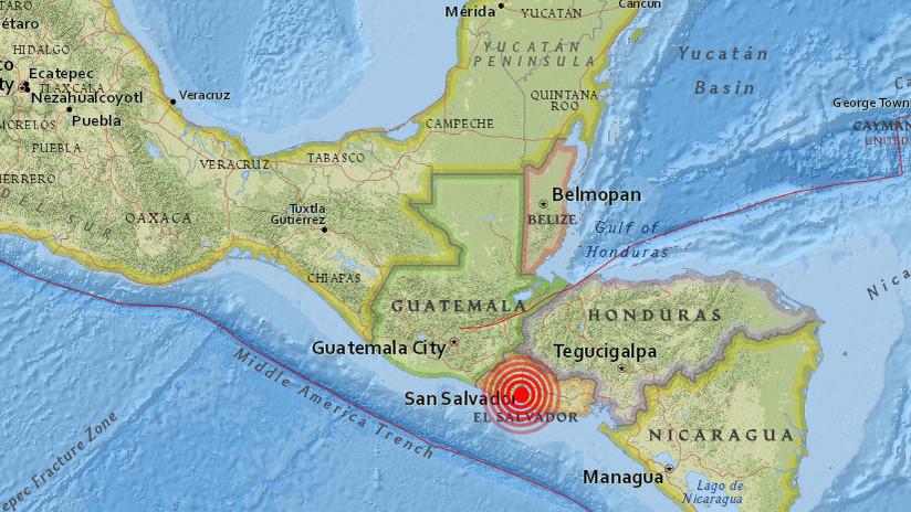 Un sismo de magnitud 4,0 sacude El Salvador