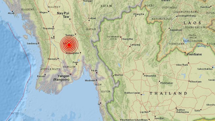 Se registran varios terremotos de magnitud hasta 6 grados al sur de Birmania