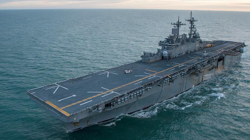 Llega a Japón un buque de EE.UU. capaz de portar cazas F-35B