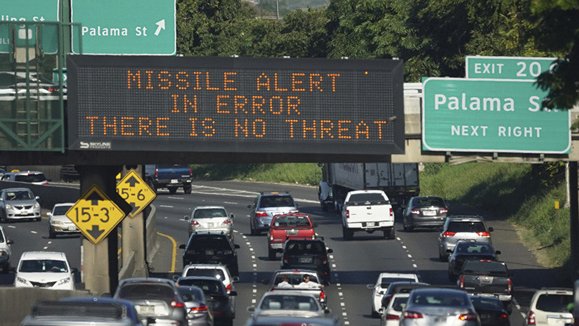 VIDEO: La falsa alerta de misil balístico en Hawái interrumpió la emisión de televisión