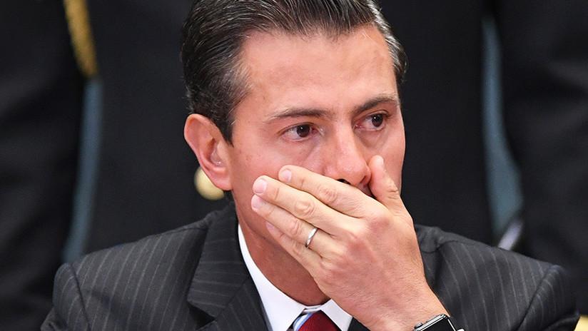 Peña Nieto y otros funcionarios mexicanos sufren una fuerte irritación en los ojos