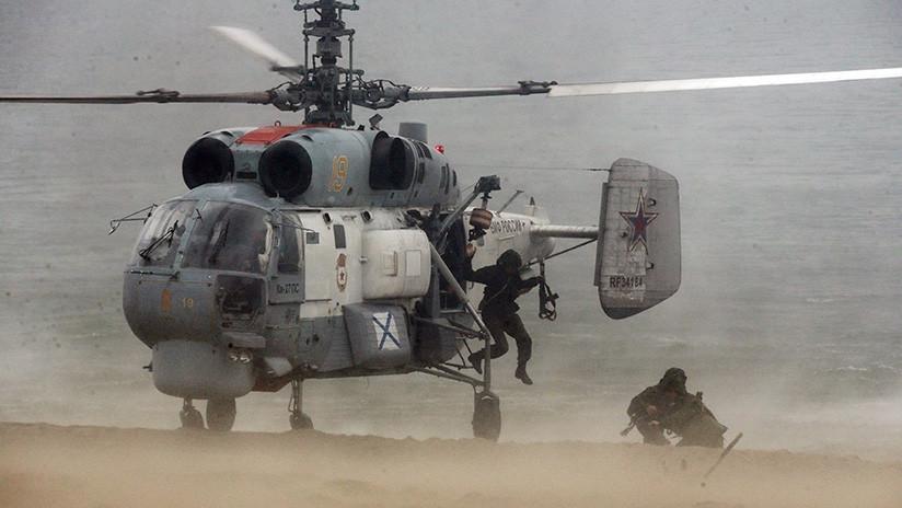VIDEO: Helicópteros de la Flota del Norte de Rusia inician ejercicios antisubmarinos