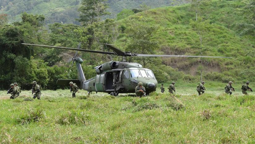Reportan accidente de helicóptero militar colombiano
