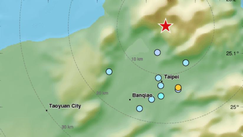 Un terremoto de 5,7 sacude Taiwán