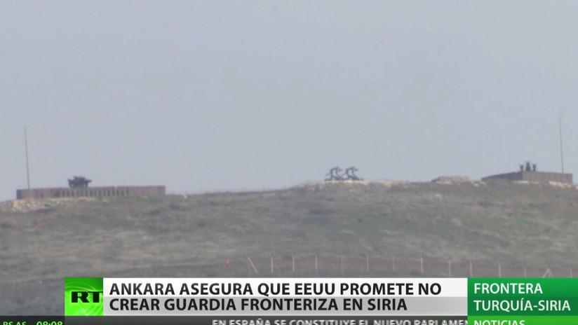 Ankara asegura que EE.UU. promete no crear guardia fronteriza en Siria
