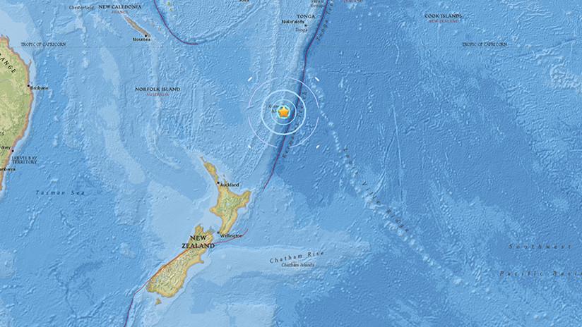 Un sismo de magnitud 5,8 sacude varias islas de Nueva Zelanda