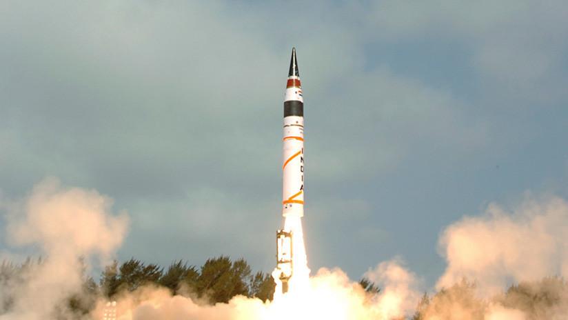 India prueba el misil intercontinental Agni-5, su 'arma de la paz' con capacidad nuclear