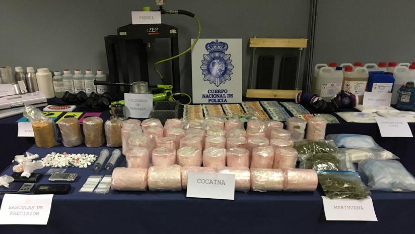 VIDEO: Decomisan en España y Portugal más de 700 kilos de cocaína escondidos dentro de piñas