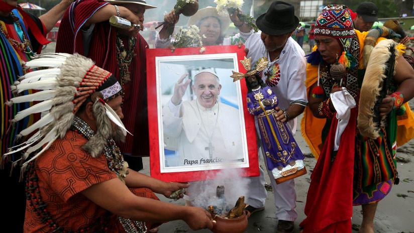Chamanes peruanos pronostican buenos augurios para la visita del papa (VIDEO, FOTOS)