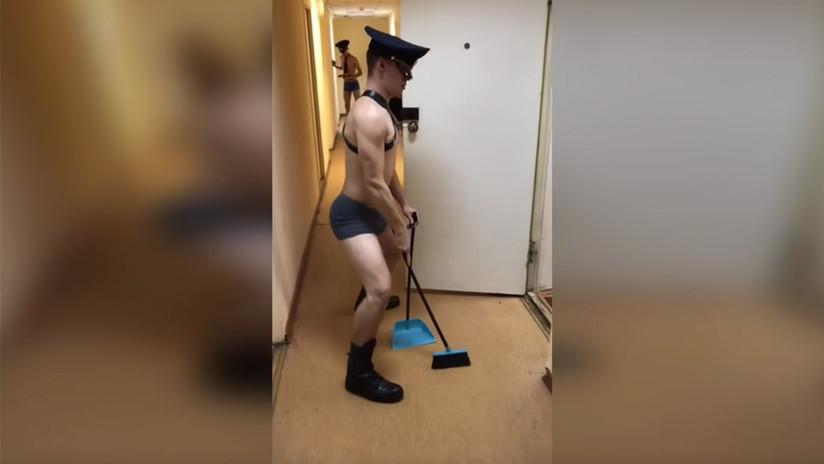 Polémica en Rusia por el baile BDSM de unos cadetes (VIDEOS)