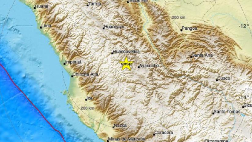 Un sismo de 5,3 sacude la parte central de Perú