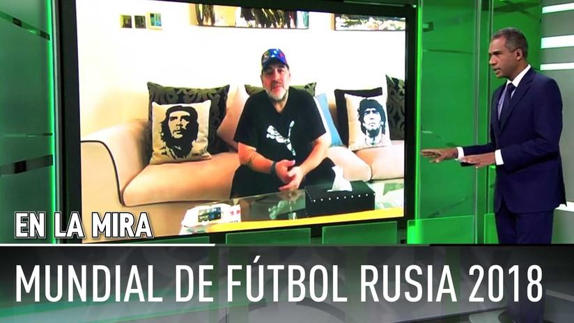 """'En la mira' de RT y TeleSUR: Maradona tilda de """"un par de ladrones"""" a Blatter y Platini"""