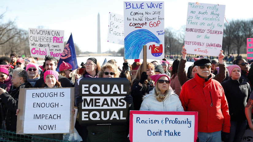 Marcha de Mujeres: Milestoman calles de EE.UU. en primer año de presidencia de Trump VIDEOS, FOTOS