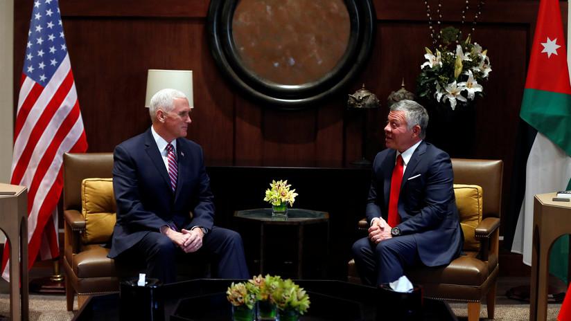"""El rey jordano afirma a Pence que EE.UU. debe """"reconstruir la confianza"""" tras decisión de Jerusalén"""