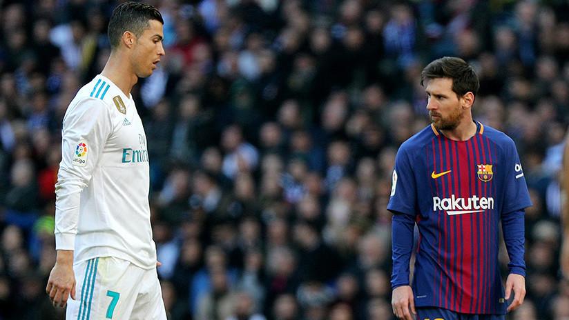 """Cristiano Ronaldo a un grupo de niños en el túnel de vestuarios: Messi """"es malo"""" (VIDEO)"""