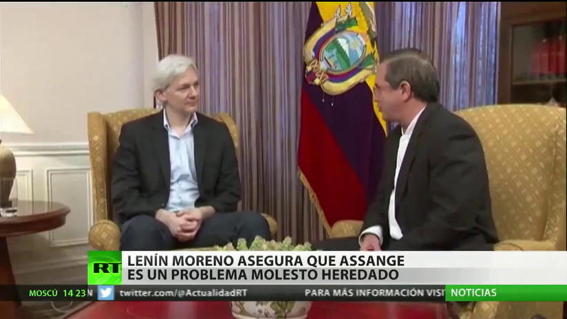 """Lenín Moreno: """"Assange es un problema molesto heredado"""""""