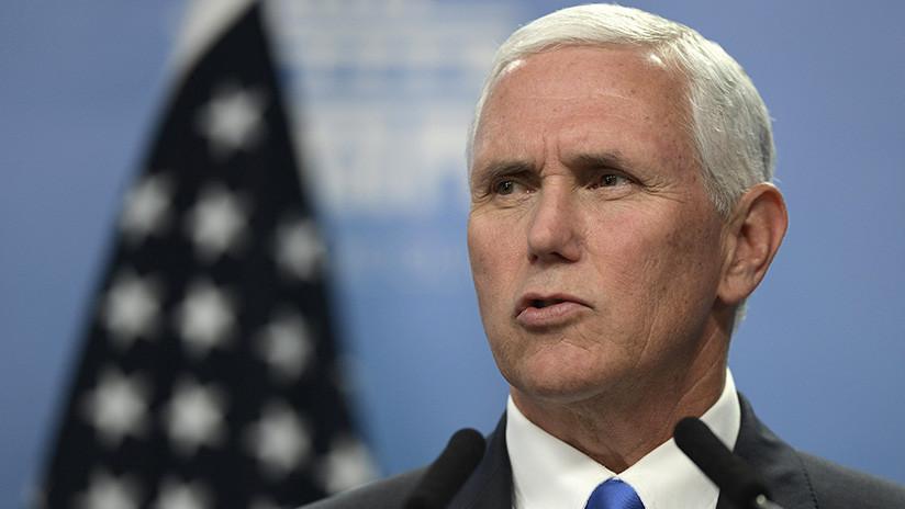 """Pence tacha de """"desastre"""" el acuerdo nuclear iraní"""