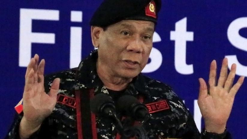 """""""No es broma"""": Duterte ordena al Ejército """"dispararle"""" si se convierte en dictador"""