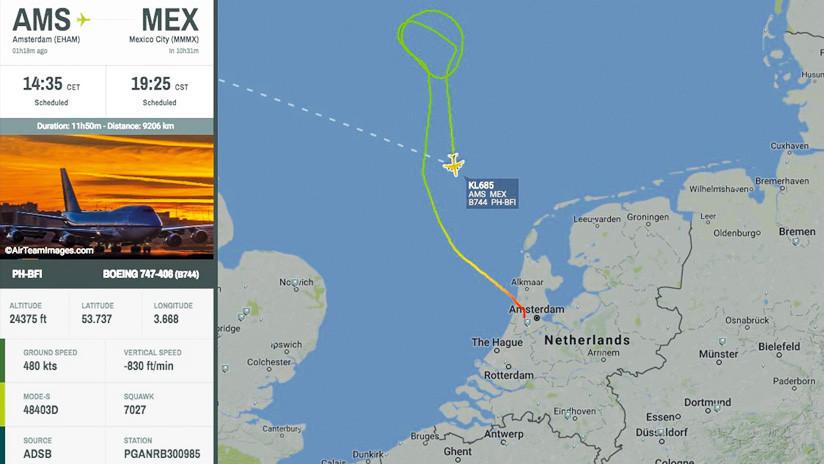 Avión de aerolínea KLM con rumbo a México se declara en emergencia