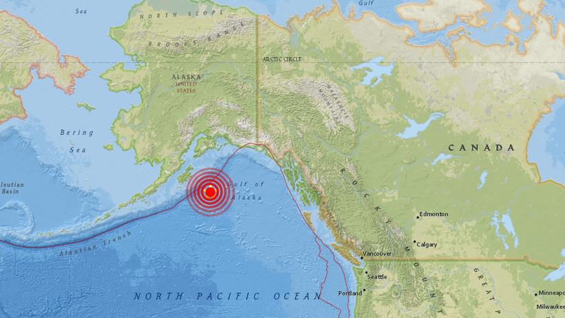 Un fuerte terremoto de magnitud 7,9 sacude el golfo de Alaska