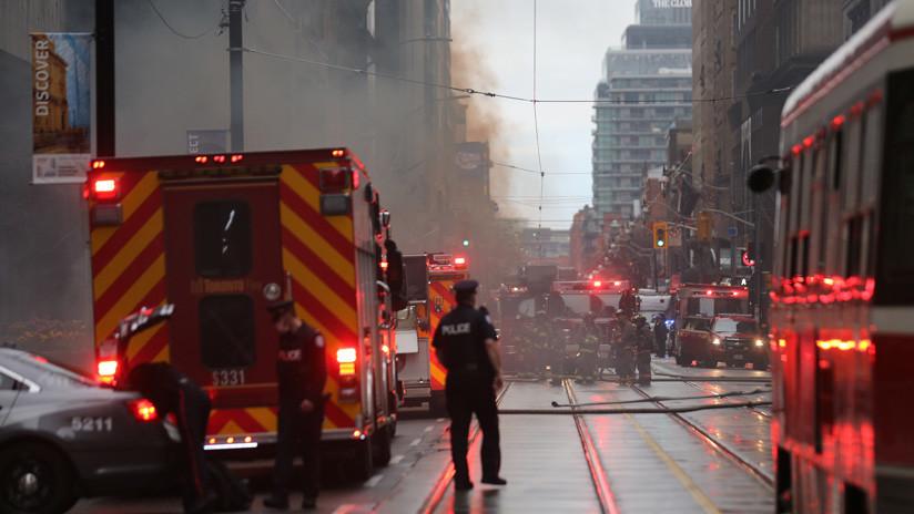 Se registra un voraz incendio en Canadá tras la colisión de un tren (FOTOS, VIDEOS)