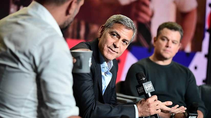 Sigue el efecto Weinstein: 28.000 mujeres piden a George Clooney que saque a Matt Damon de un filme