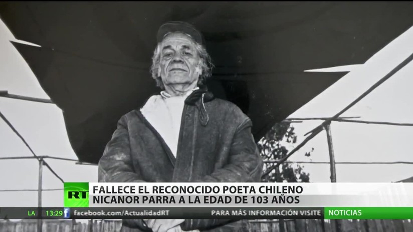 Fallece el reconocido poeta chileno Nicanor Parra a los 103 años