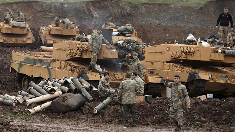 Turquía ataca con 27 aviones decenas de objetivos en Afrín